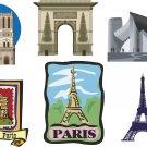 Paris Wall Decal Assortment Packs