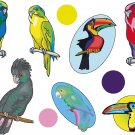 Parrots Wall Decal Assortment Packs