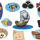 Pirates Wall Decal Assortment Packs