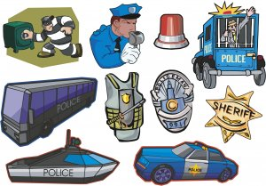 Police Wall Decal Assortment Packs