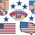 President's Day Wall Decal Assortment Packs