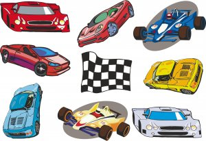 Race Car Wall Decal Assortment Packs