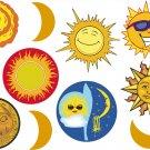 Sun Wall Decal Assortment Packs