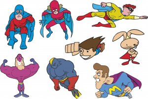 Superhero Wall Decal Assortment Packs