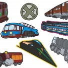 Trains Wall Decal Assortment Packs