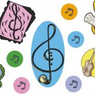 Treble Clef Wall Decal Assortment Packs