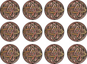 Abstract Circles #3 Wall Decal Pattern Assortment Packs