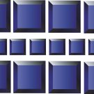 Squares Blue Wall Decal Pattern Assortment Packs