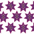 Star Flower Wall Decal Pattern Assortment Packs