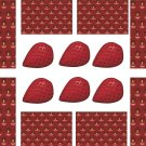 Strawberry Wall Decal Pattern Assortment Packs