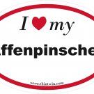 Affenpinscher Oval Car Sticker