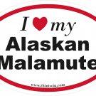 Alaska Malamute Oval Car Sticker