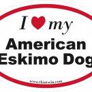 American Eskimo Oval Car Sticker