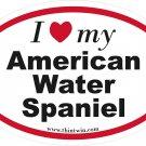 American Water Spaniel Oval Car Sticker