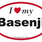 Basenji Oval Car Sticker