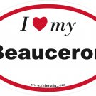Beauceron Oval Car Sticker
