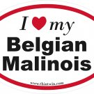 Belgian Malinois Oval Car Sticker