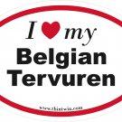 Belgian Tervuren Oval Car Sticker