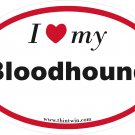 Bloodhound Oval Car Sticker