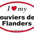 Bouviers de Flanders Oval Car Sticker