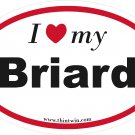 Briard Oval Car Sticker