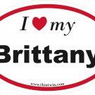 Brittany Oval Car Sticker