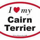 Cairn Terrier Oval Car Sticker