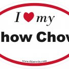 Chow Chow Oval Car Sticker
