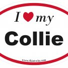 Collie Oval Car Sticker