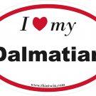 Dalmatian Oval Car Sticker