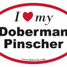 Doberman Pinscher Oval Car Sticker