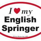 English Springer Oval Car Sticker