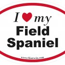 Field Spaniel Oval Car Sticker