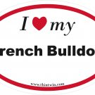 French Bulldog Oval Car Sticker