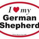 German Shepherd Oval Car Sticker