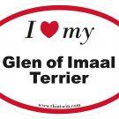 Glen of Imaal Terrier Oval Car Sticker