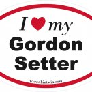 Gordon Setter Oval Car Sticker