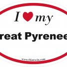 Great Pyrenees Oval Car Sticker