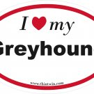 Greyhound Oval Car Sticker