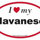 Havanese Oval Car Sticker