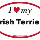 Irish Terrier Oval Car Sticker