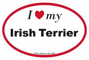 Irish Terrier Oval Car Sticker