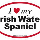 Irish Water Spaniel Oval Car Sticker