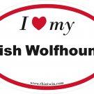 Irish Wolfhound Oval Car Sticker