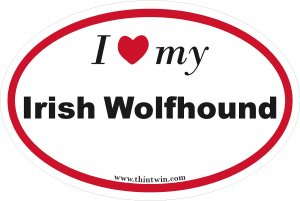 Irish Wolfhound Oval Car Sticker