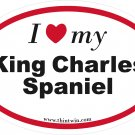 King Charles Spaniel Oval Car Sticker