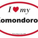 Komondorok Oval Car Sticker