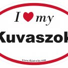 Kuvaszok Oval Car Sticker