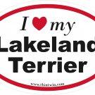 Lakeland Terrier Oval Car Sticker