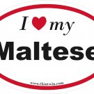 Maltese Oval Car Sticker